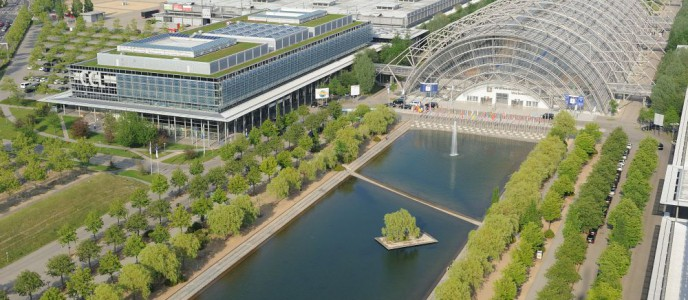 Congress Center Leipzig (CCL) mit Glashalle und Messehallen 2 und 4
