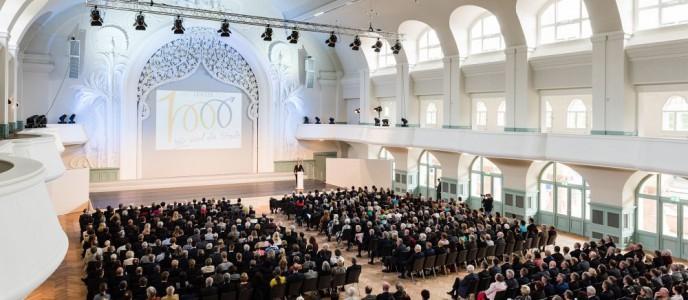 Die KONGRESSHALLE am Zoo Leipzig: Blick in den großen Saal bei Veranstaltung