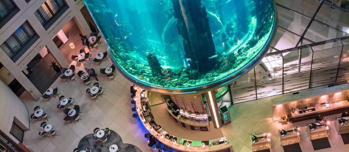 Blick auf die Lobby